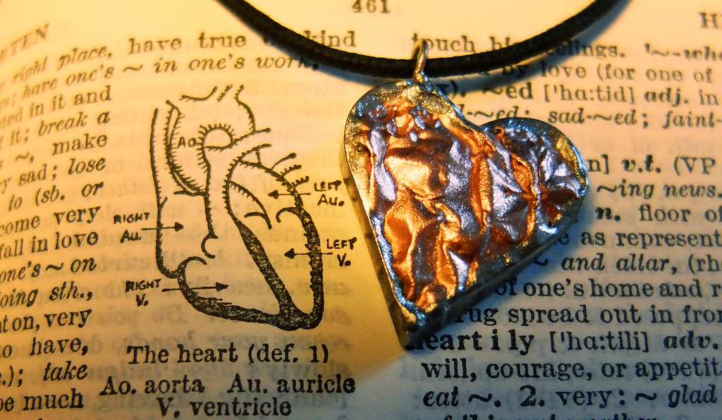"Kette ""The heart"""